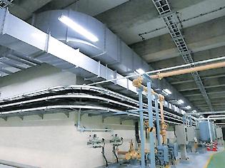 下水処理場 水処理設備換気ダクト